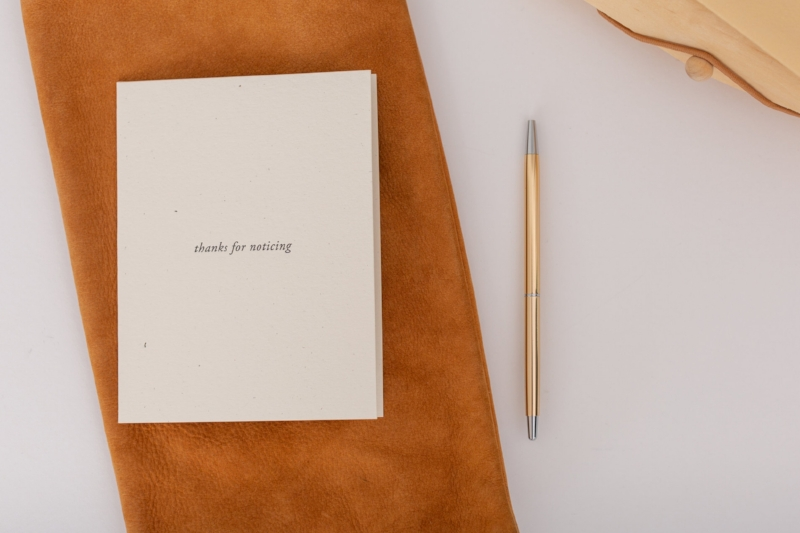Thanks for Noticing | Note cards for mindful appreciation | Of Note Stationers