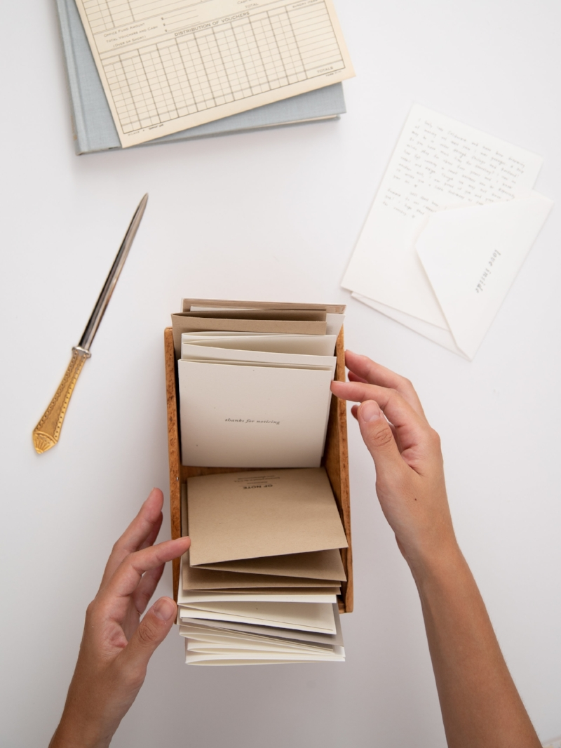 Thanks for noticing | A mindful practice of appreciation | Of Note Stationers