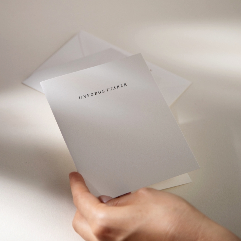 Preserve your memories with Unforgettable | Letterpress Printed Paper Goods for Mindful Correspondence | Of Note Stationers