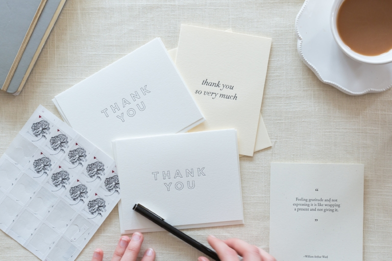 A Year of Saying Thank You | Of Note Stationers