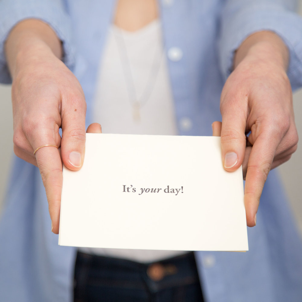 It's your day, celebrate it | Of Note Stationers