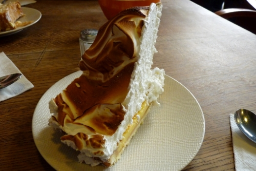 Some of Paris's tallest lemon meringue pie in the Mariais