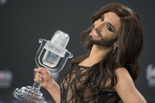 Austria's Conchita Wurst after winning in 2014 // Photo Credit:  Albin Olsson