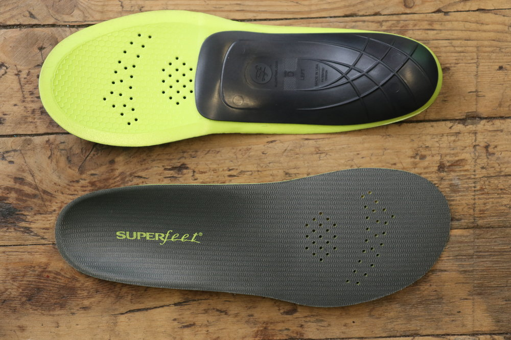 Superfeet Carbon - Superfeet carbon is a high quality, stiff orthotic far superior to the insoles which come standard in most cycling shoe brands. Alongside a custom insole we offer our clients a more budget friendly option. Superfeet carbon is a low profile insole designed to fit comfortably into sport footwear.