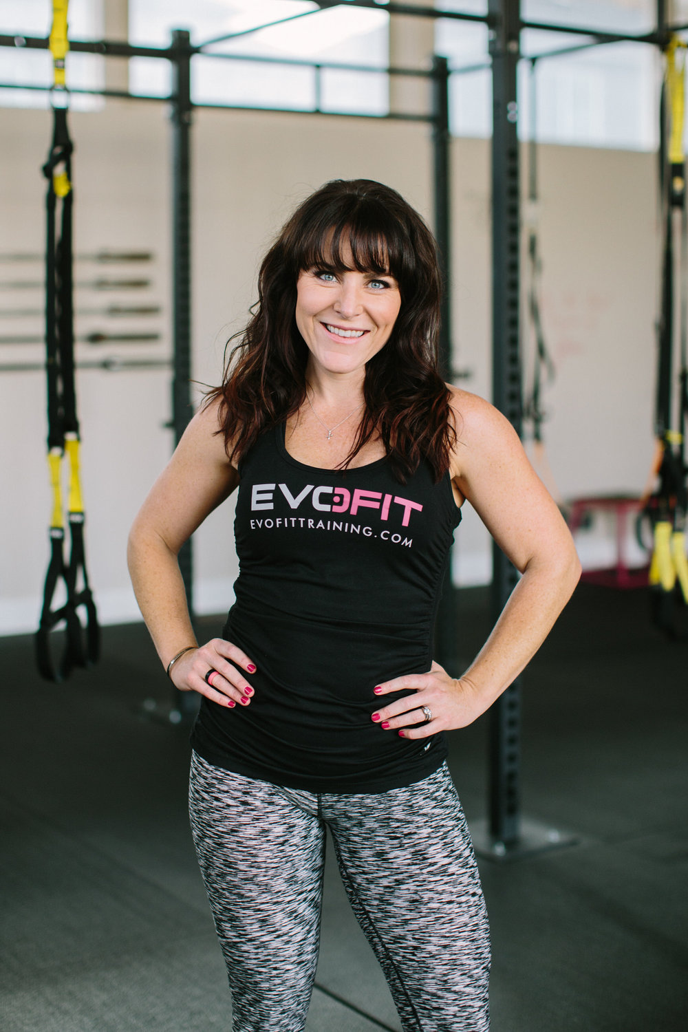 When Sue and I co-founded EvoFit, we were two women with the same challenge: fitting high-quality training into our packed schedules. We didn't have time to juggle memberships at multiple studios and we wanted big results from our workouts.   Passionate about client results, I'm certified by AFAA, NESTA, BootyBarre, FIT4MOM, Seattle Kettlebell Club, and TRX. As a professional, I've moved from group and private instruction in customized women's fitness facilities to my own private training studio before co-founding EvoFit. I like my classes fast, loud, and challenging – building inside and out strength.  As a coach and a mom I know this: Each of us needs a little (sometimes a big) push to realize our true potential. We are so much stronger than we give ourselves credit for. When you unlock that truth the possibilities are endless in or out of the gym.