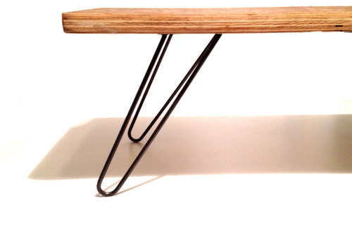 how to finish raw steel hairpin legs