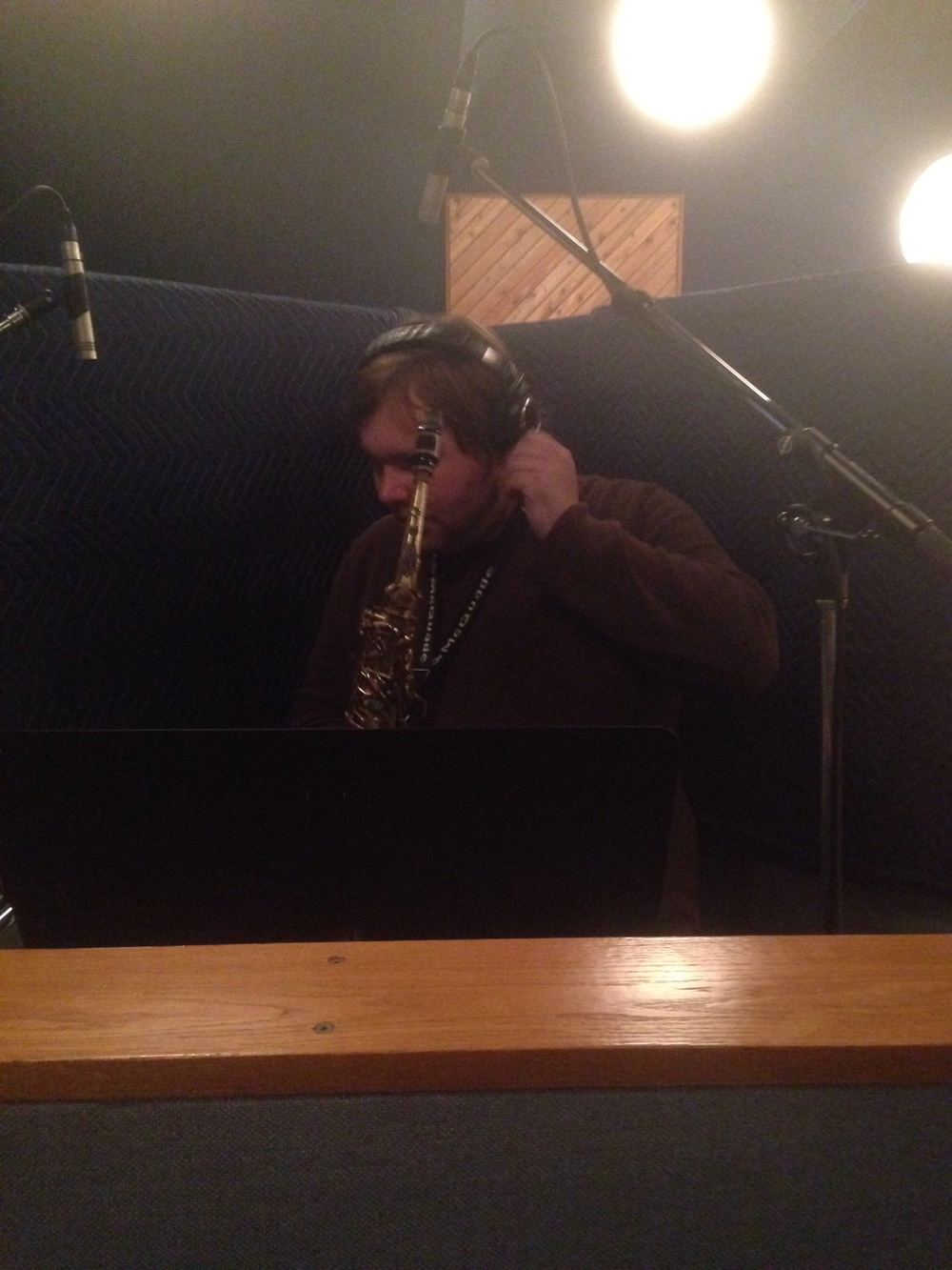 Chris on alto sax and flute