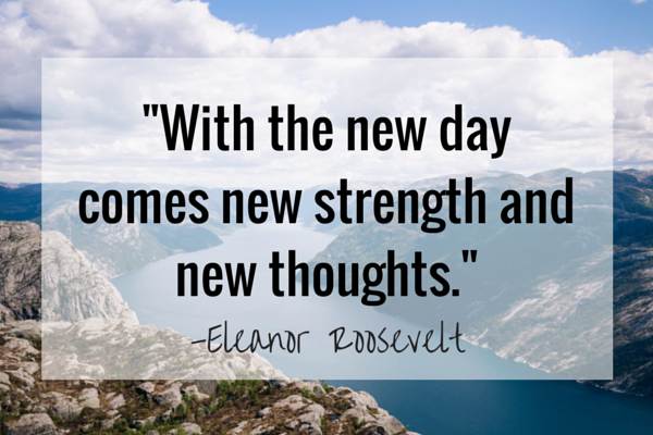 New strength and new thoughts