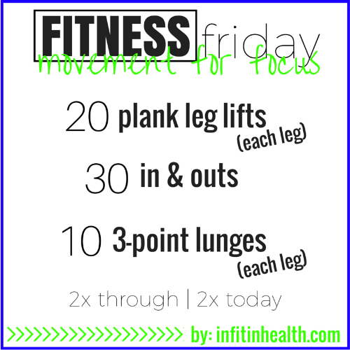 Fitness Friday movement for focus