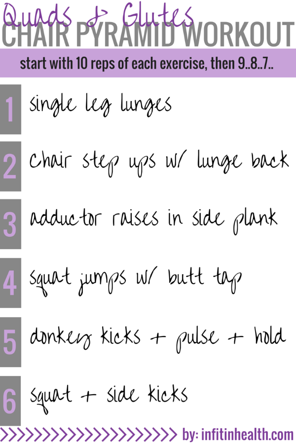 Quads & Glutes Chair Pyramid Workout