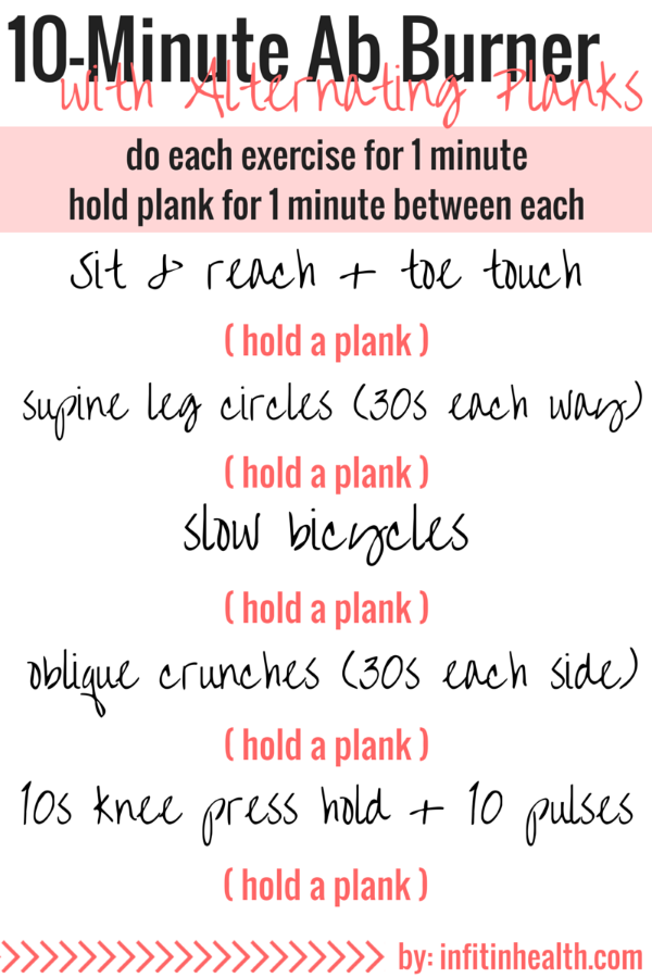 10-Minute Ab Burner with Alternating Planks