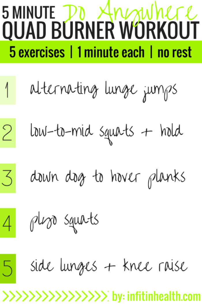 5 Minute Do Anywhere Quad Burner Workout
