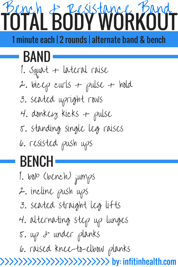 Bench + Resistance Band Total Body Workout
