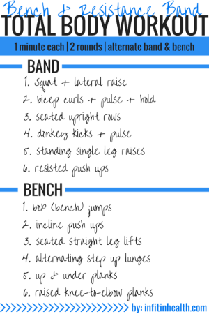 Bench Resistance Band Total Body Workout