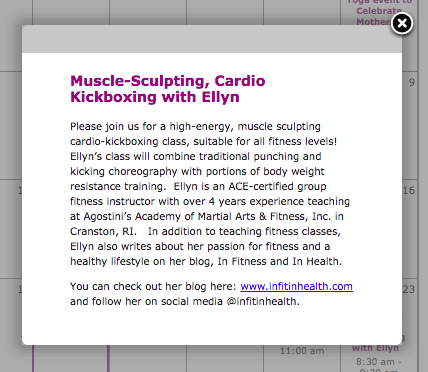 THe write up of my class on the Providence Athleta Calendar.