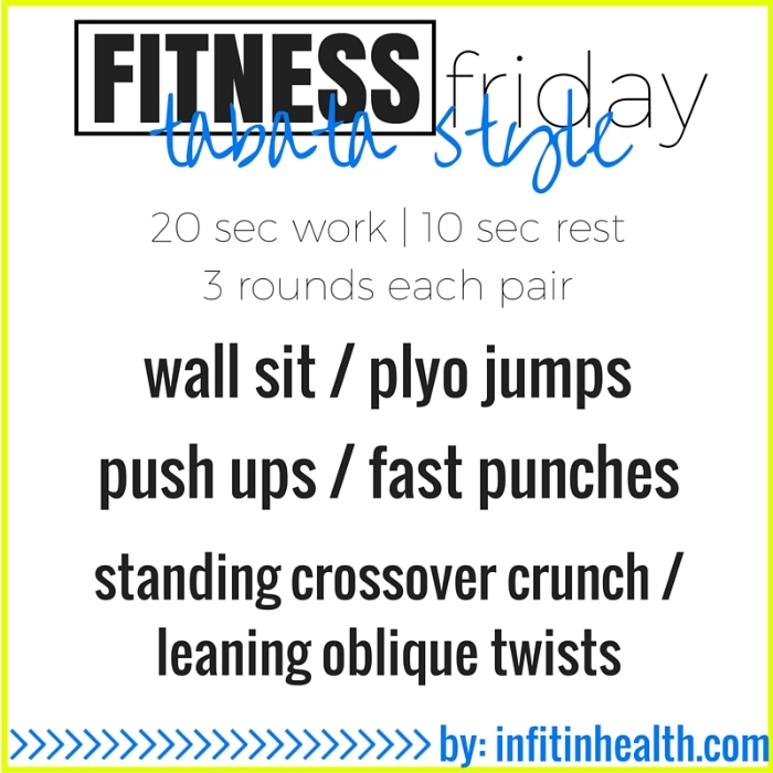 Fitness Friday 10/16: Mini Tabata Office Workout