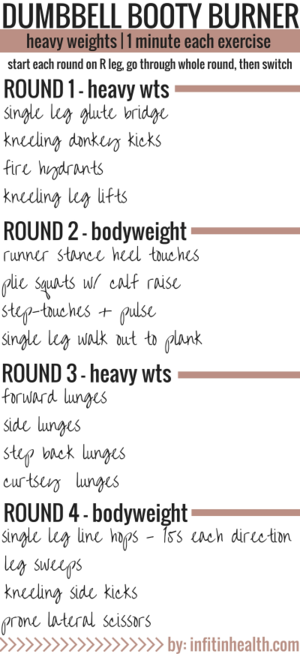 Dumbbell Bodyweight Booty Burner Workout