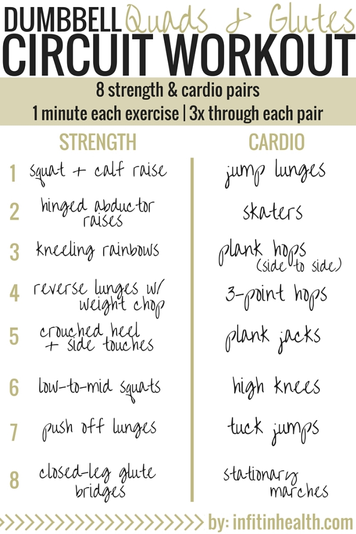 dumbbell quads glutes circuit workout. Black Bedroom Furniture Sets. Home Design Ideas