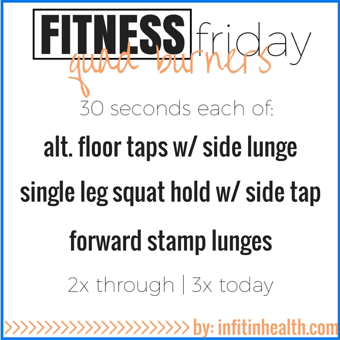 Fitness Friday 12/11: Quad Burners