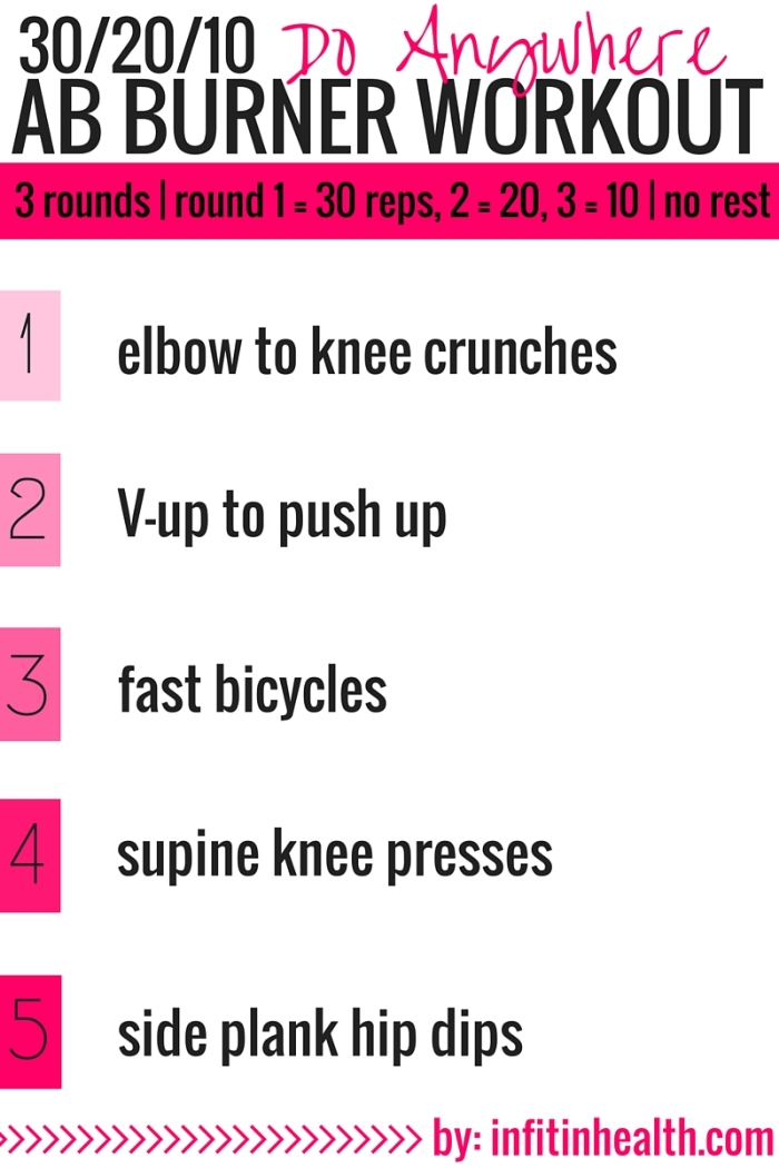 30-20-10 Do Anywhere Ab Burner Workout