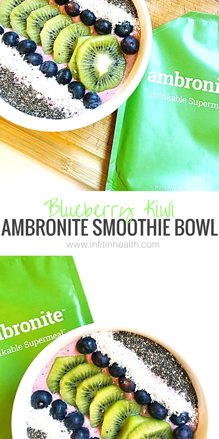Blueberry Kiwi Ambronite Smoothie Bowl
