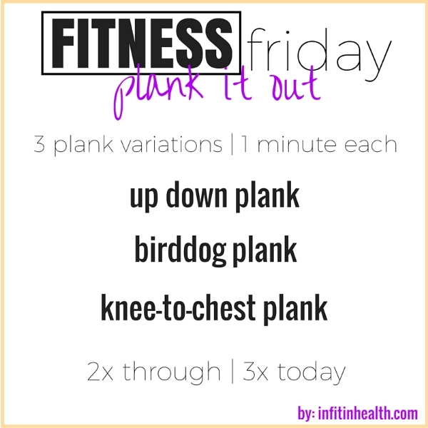 Fitness Friday 2/26: Plank It Out