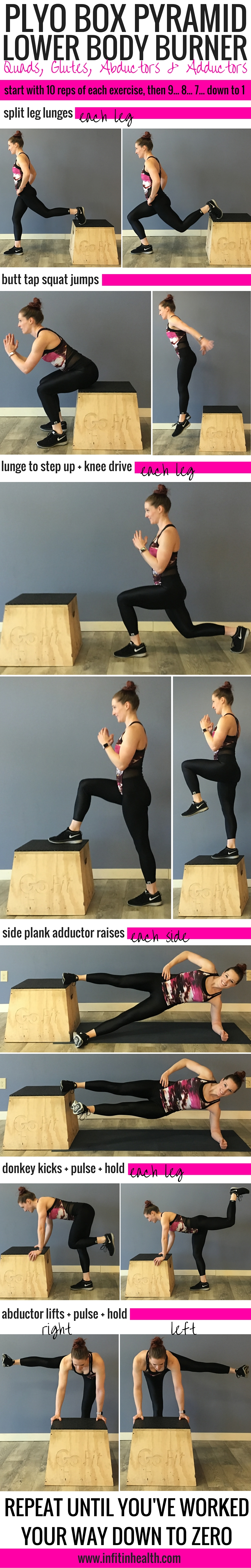 Plyo Box Pyramid Lower Body Burner