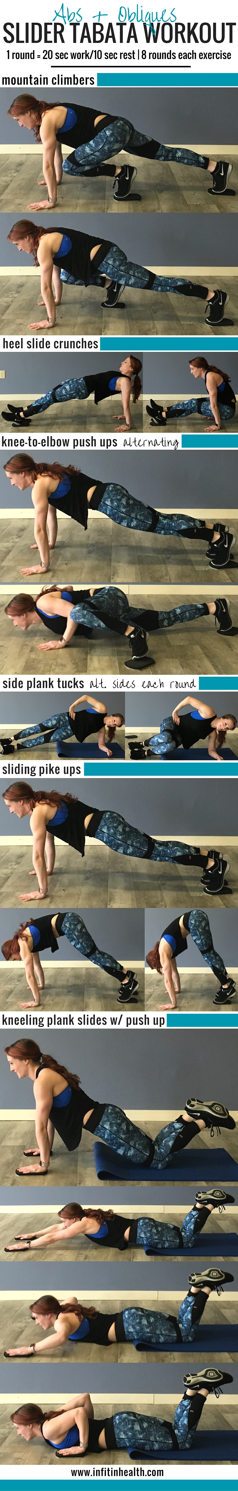 Abs & Obliques Slider Tabata Workout