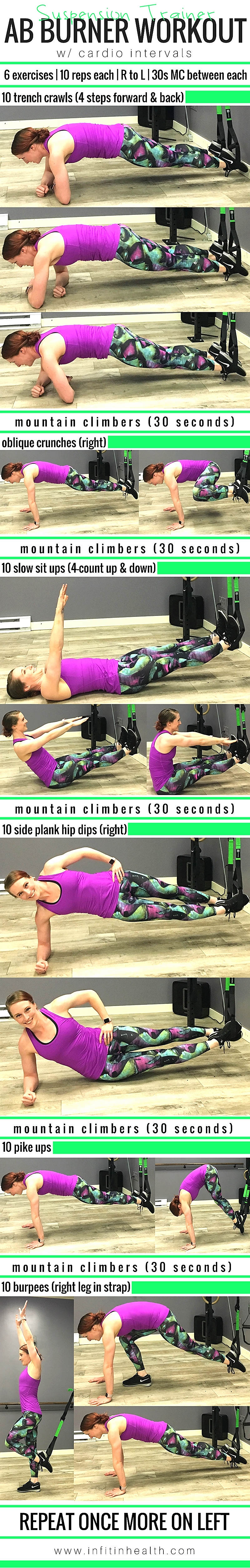 Suspension Trainer Ab Burner Workout w/ Cardio Intervals