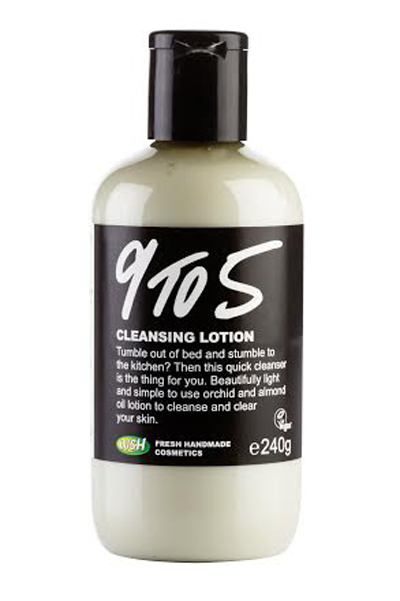 "Another product that our travelers adore is the Lush ""9 to 5"" cleansing lotion. Yes, it is everything that it promises to be but also more. While it is not advertised on the bottle as a makeup remover, the 9 to 5 cleansing lotion can be applied lightly to a tissue or face cloth & used in one clean swipe to remove your makeup (yes, even eye makeup!) I cannot tell you how many times the Lush 9 to 5 has rid me of my raccoon eyes after emerging from the ocean in my ""waterproof"" mascara. Yikes!"
