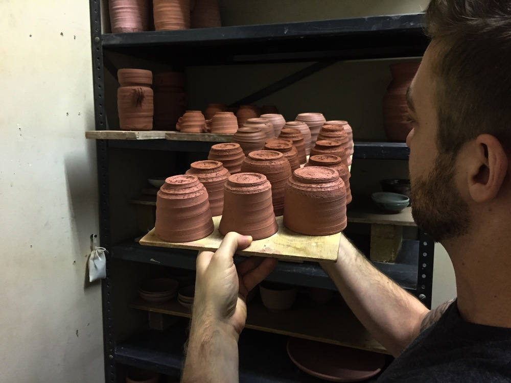 bone dry pottery pieces