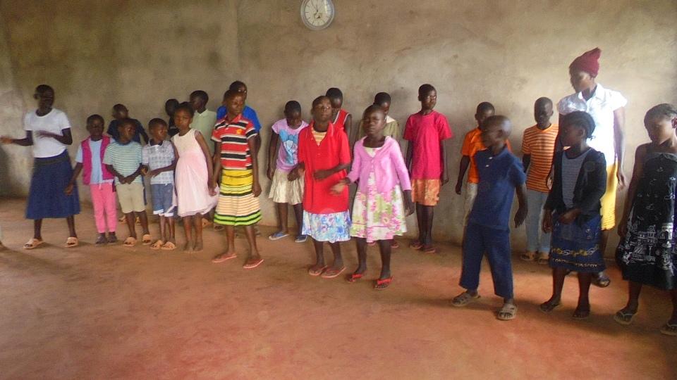 Sunday school performing praise dance