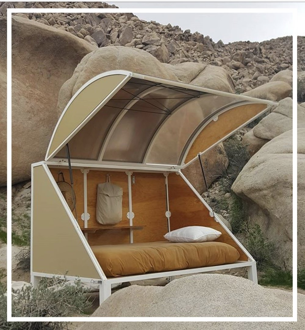 A 'minimal living space' in Joshua Tree