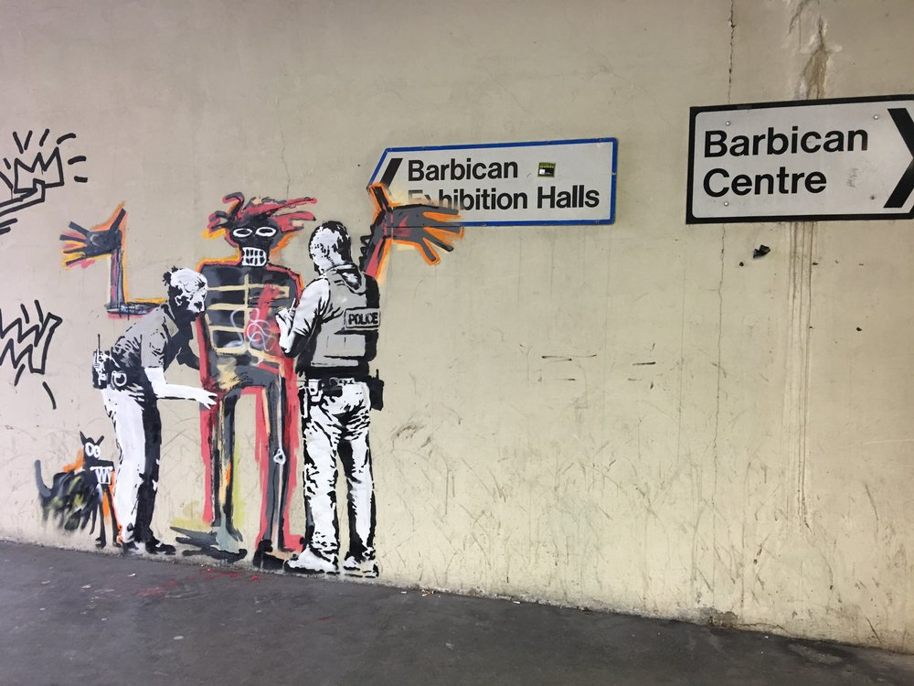 A real Banksy- made just 2 days prior.