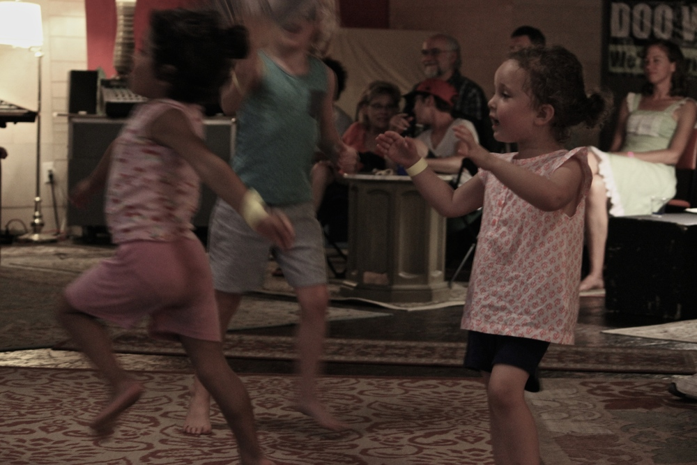 Children dance to the tunes!