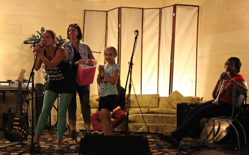 Co-Executive Directors Cheyenne and Nina reveal the raffle winners!