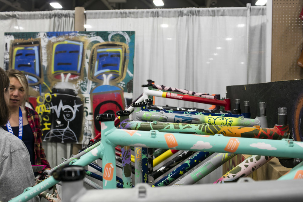 Loving the creativity going into Squid Bikes. Each frame is built by Ventana bicycles with aluminum, and custom painted. If you didn't catch that.