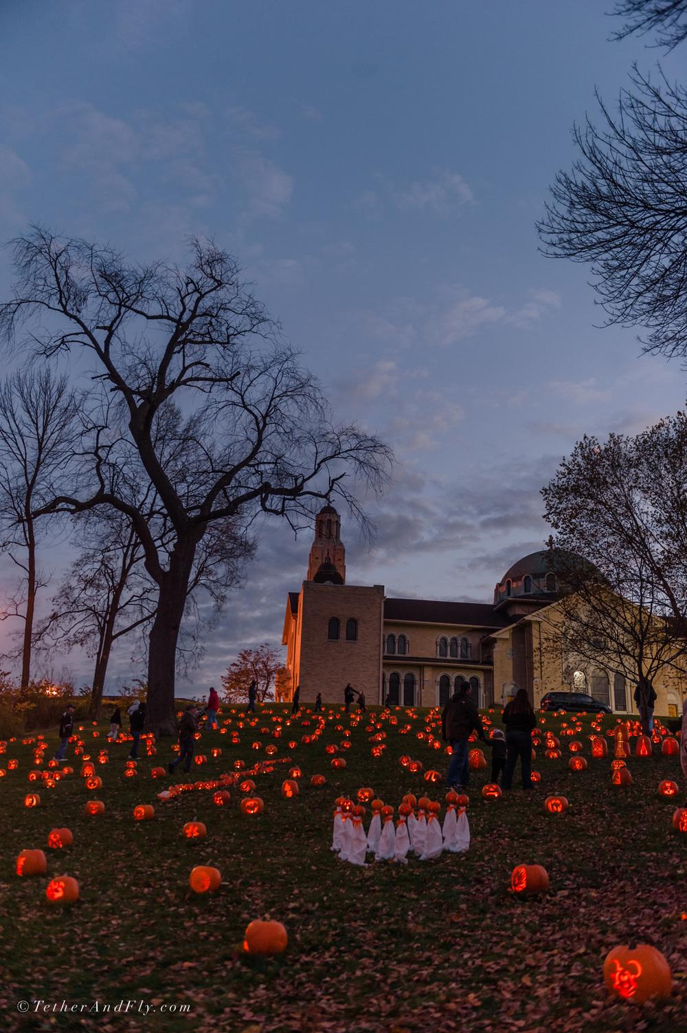 Stoddard Ave Pumpkin Glow | Dayton, OH | TetherAndFly.com