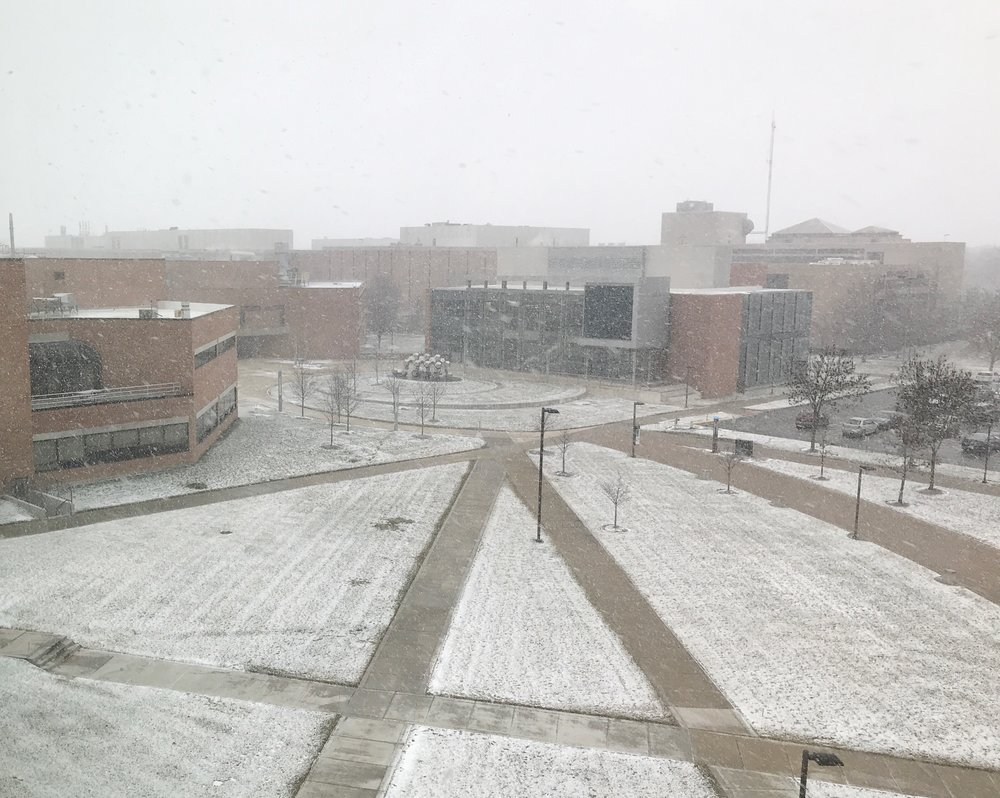Wright State Snowing | TetherAndFly.com