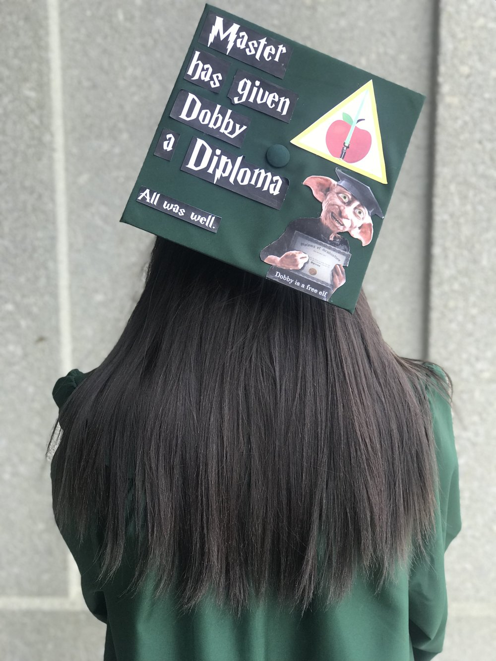 Master has given Dobby a diploma All was well | TetherAndFly.com