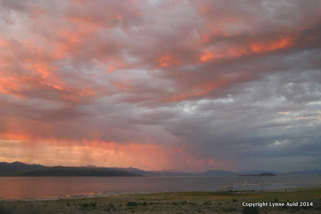 Storm at Sunset, Mono Lake