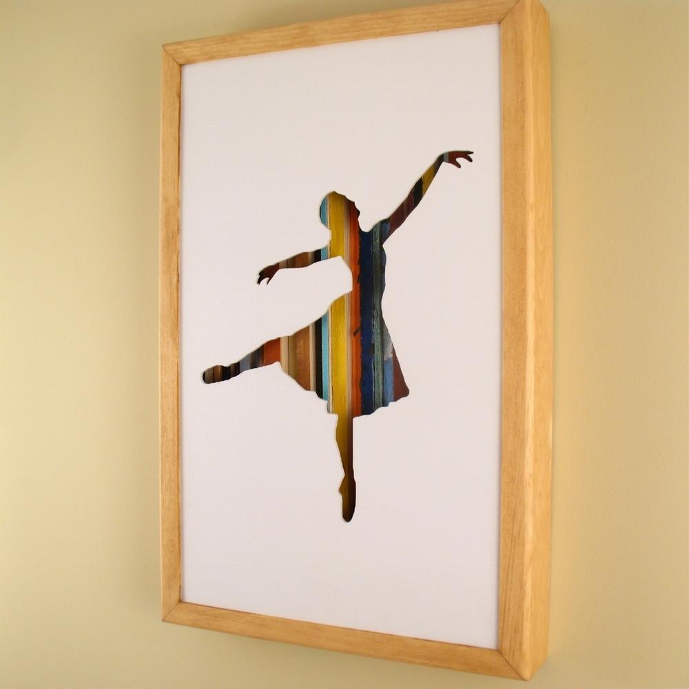 "Ballerina - 17"" x 11"" x 2"" - $175.00"