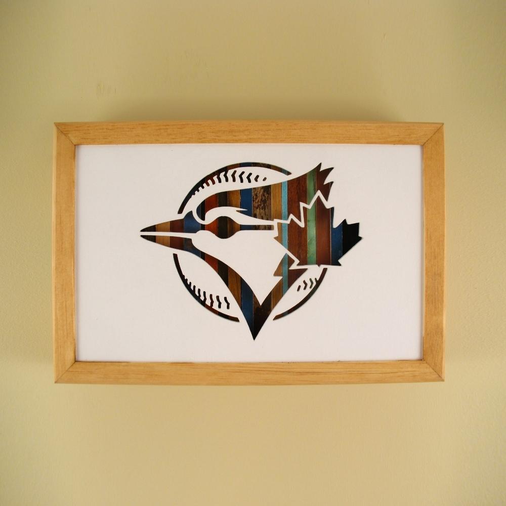 """Blue Jays - 12"""" x 8"""" x 2"""" - $115.00"""
