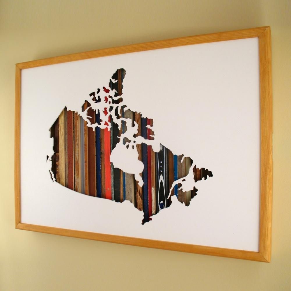 """Canada - 24"""" x 17"""" x 2"""" - $305.00"""