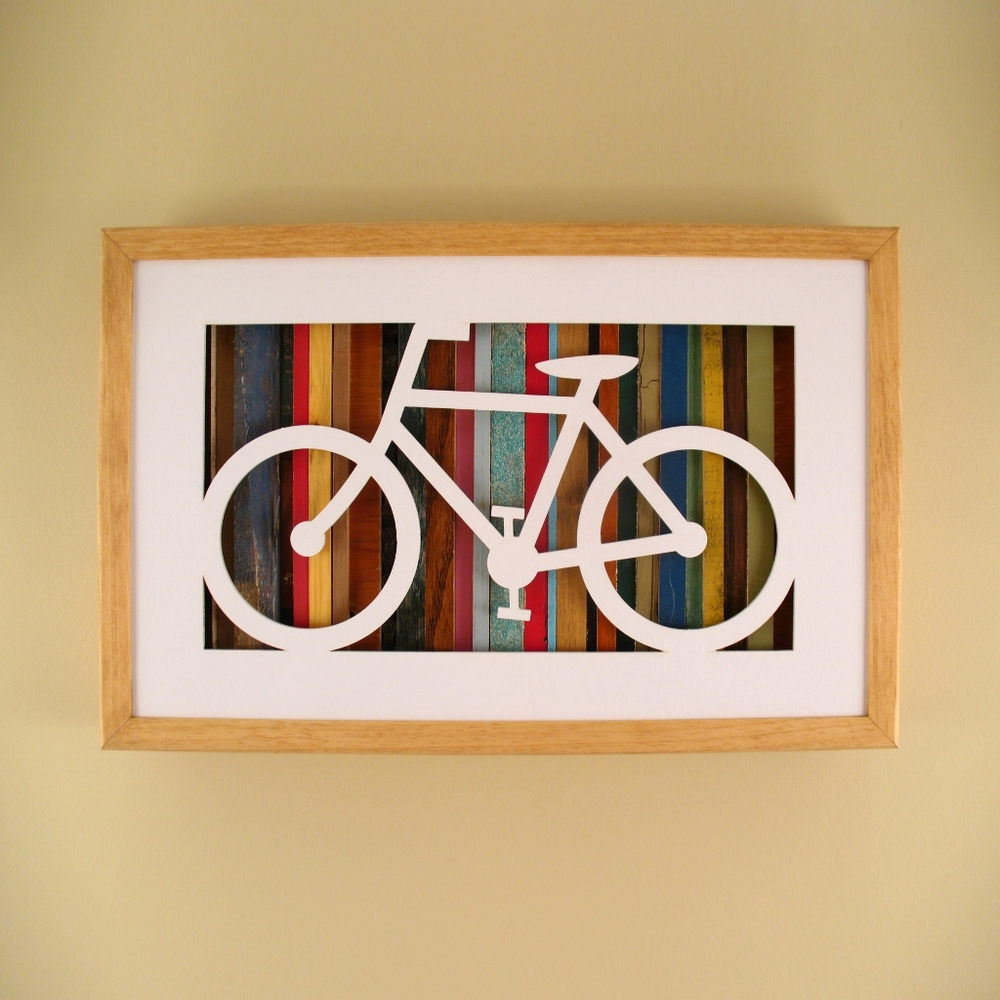 "Classic Bicycle - 17"" x 11"" x 2"" - $175.00"
