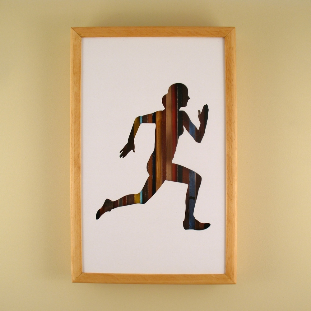 "Female Runner - 17"" x 11"" x 2"" - $175.00"