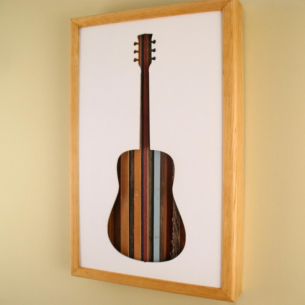 "Guitar - 17"" x 11"" x 2"" - $175.00"
