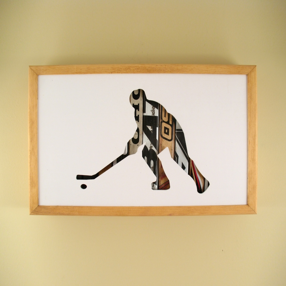 "Hockey Player - 17"" x 11"" x 2"" - $175.00"