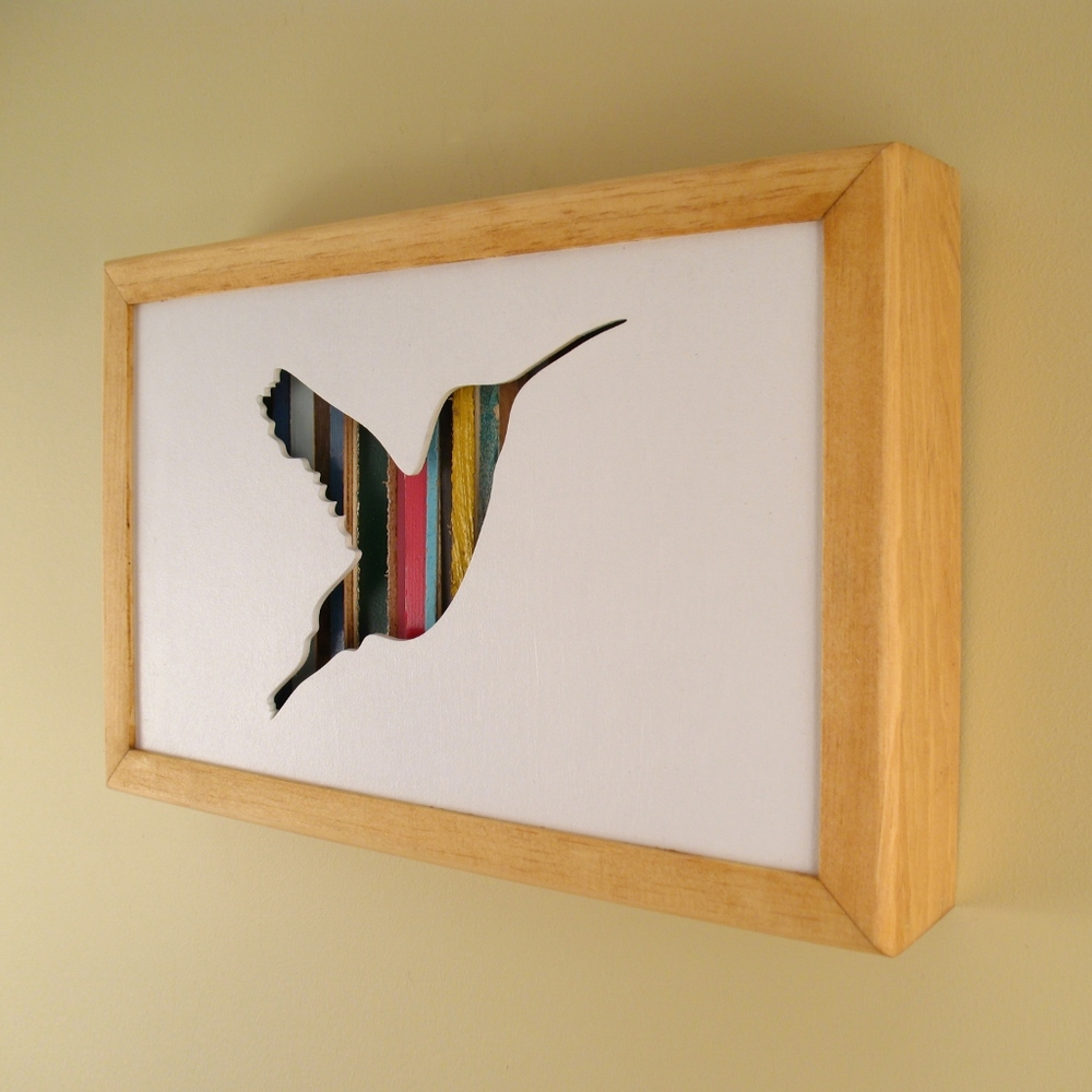 """Hummingbird - 12"""" x 8"""" x 2"""" - $115.00"""