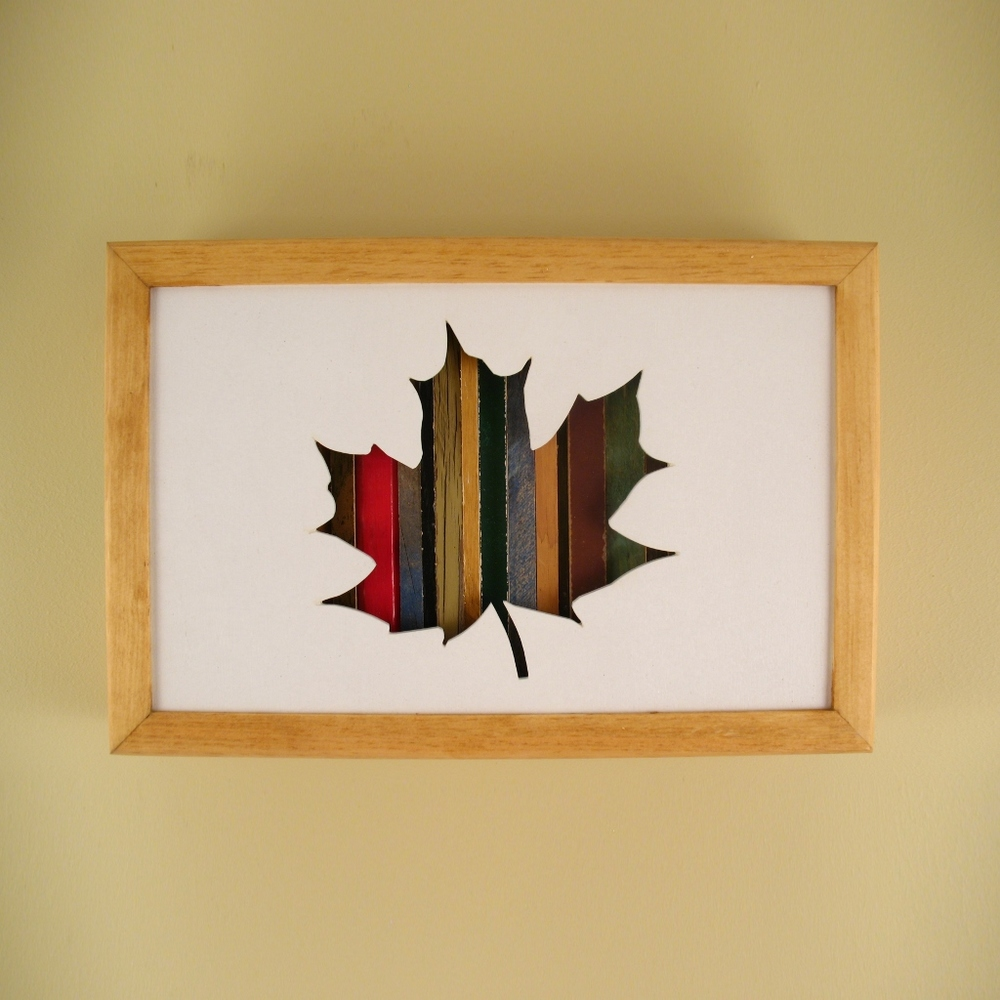 "Maple Leaf - 12"" x 8"" x 2"" - $115.00"